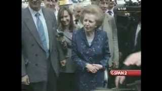 Margaret Thatcher Campaigning During 2001 Election
