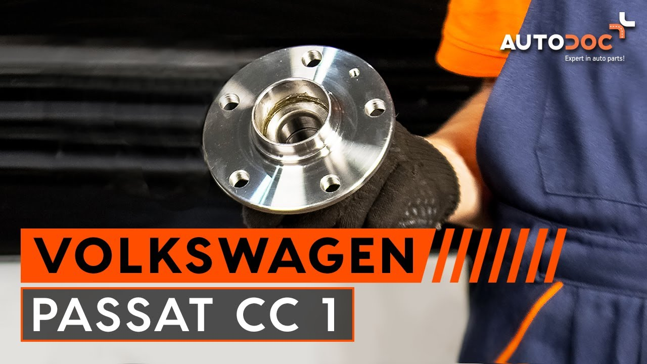 How to replace rear wheel bearing on VW PASSAT CC 1 TUTORIAL   AUTODOC