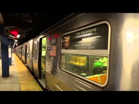 IND 6th Avenue Express: Grand Street bound R-68 Shuttle train @ Broadway-Lafayette Street!