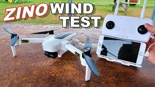 Hubsan Zino Wind Test & Flight Time Awesome 4K 3 Axis GPS Drone - TheRcSaylors