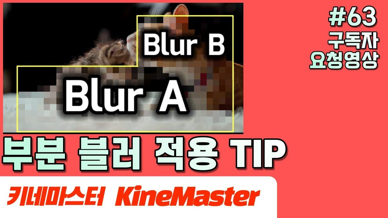 키네마스터 부분Blur적용하기 (구독자 요청 영상) | Kinemaster Section Blur Tutorial | 초보자를 위한 영상펴집63편
