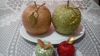 Manzanas hechas con material reciclado. DIY. Apples made from recycled material