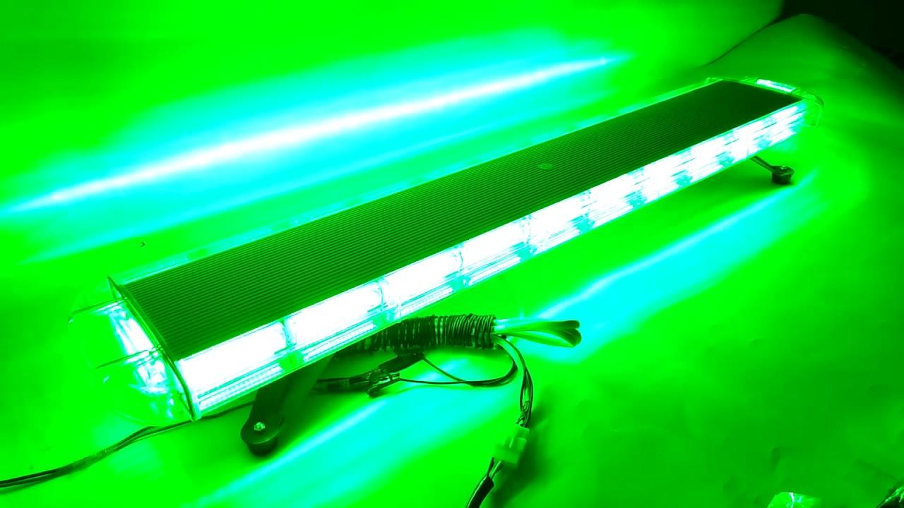 "Green 6/"" 20W COB LED STROBE SIG Hazard Warning Emergency Roof Light Bar Mount"