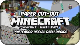 MINECRAFT PE 1.0 - PAPER CUT OUT TEXTURE PACK - PAQUETE DE TEXTURAS ACTUALIZADO - POCKET EDITION