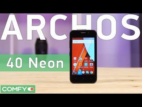Archos 40 Neon - бюджетный до неприличия смартфон - Видео демонстрация