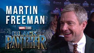 Martin Freeman at Marvel Studios' Black Panther World Premiere Red Carpet