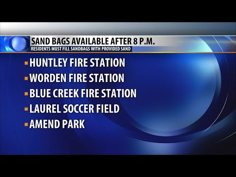 Sandbags available around Yellowstone County