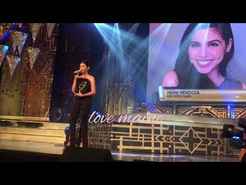 50th BOX OFFICE ENTERTAINMENT AWARDS MAINE MENDOZA ACCEPTANC