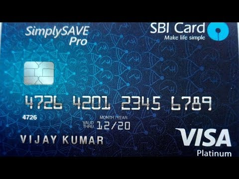 SBI  Visa  Platinum Credit Card || Un-boxing || 2018 New Pro Card.