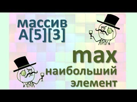 Задача13 Блок-схема С++ Mathcad Двумерный массив, найти Max наибольший элемент и его индексы