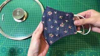 Making masks easy with pot pan lid cover 6 Face mask sewing tutorial Face mask DIY