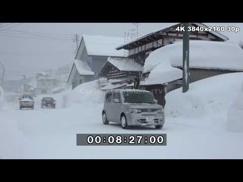Extreme Snow Winter Weather Japan 2017 /18 4K Stock Footage Reel