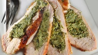 Stuffed Turkey Breast with Sausage, Gouda and Spinach