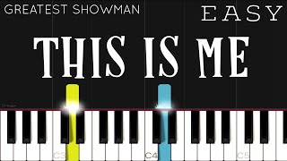 Download lagu The Greatest Showman - This Is Me | EASY Piano Tutorial