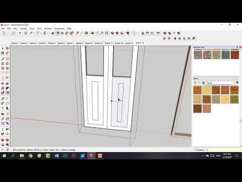 Làm cửa kính sắt đơn giản bằng sketchup 2021