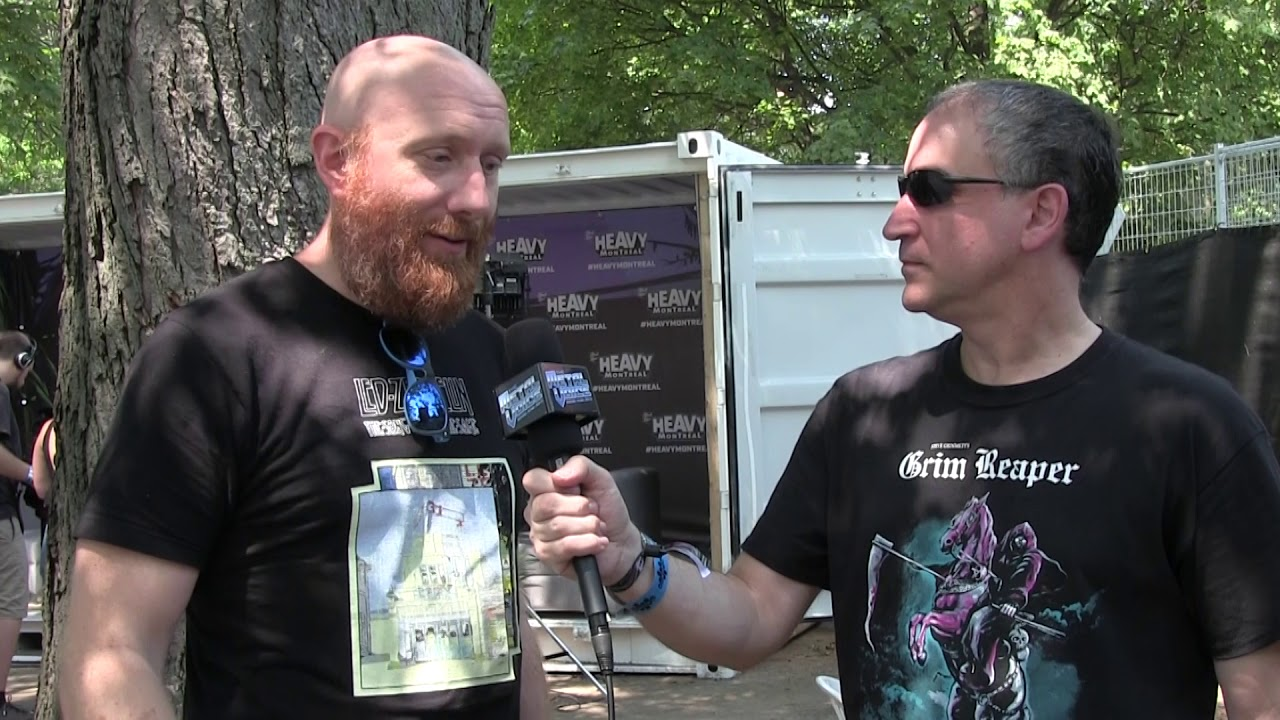 Killswitch Engage Justin Foley- Interview-Atonement- Chuck Billy & Iron  Maiden-Heavy Montreal 2019