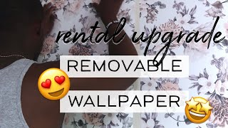 How To Install Peel & Stick Wallpaper | Renter Friendly Diy Accent Wall | Albie Knows 🖤 ✨