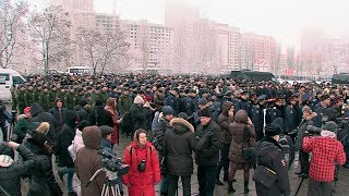 В Воронеже людское море провожало в последний путь лётчика героя Филипова