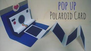 manualidades para regalar pop up polaroid card