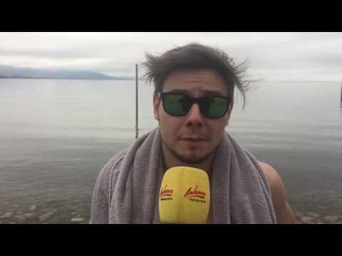 Trotz 8 Grad Wassertemperatur - ANTENNE VORARLBERG badet im Bodensee an