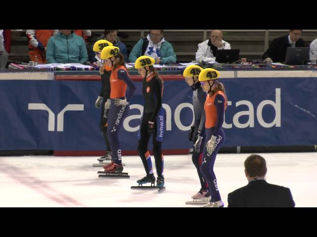 A finale 1000m meisjes junior B NK SHORTTRACK 2014