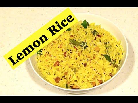 Lemon Rice Recipe   Lemon Sadham   Nimmakaya Pulihora   Nimbu Chawal