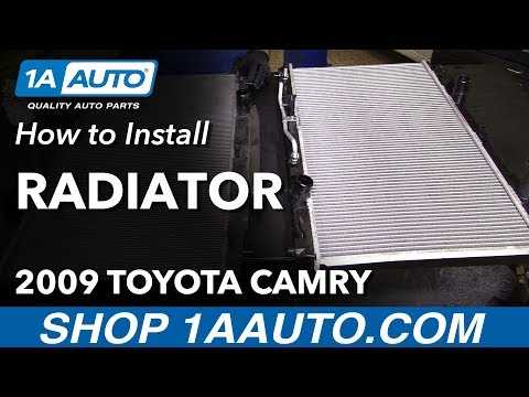 How to Replace Radiator 07-09 Toyota Camry L4 2.4L
