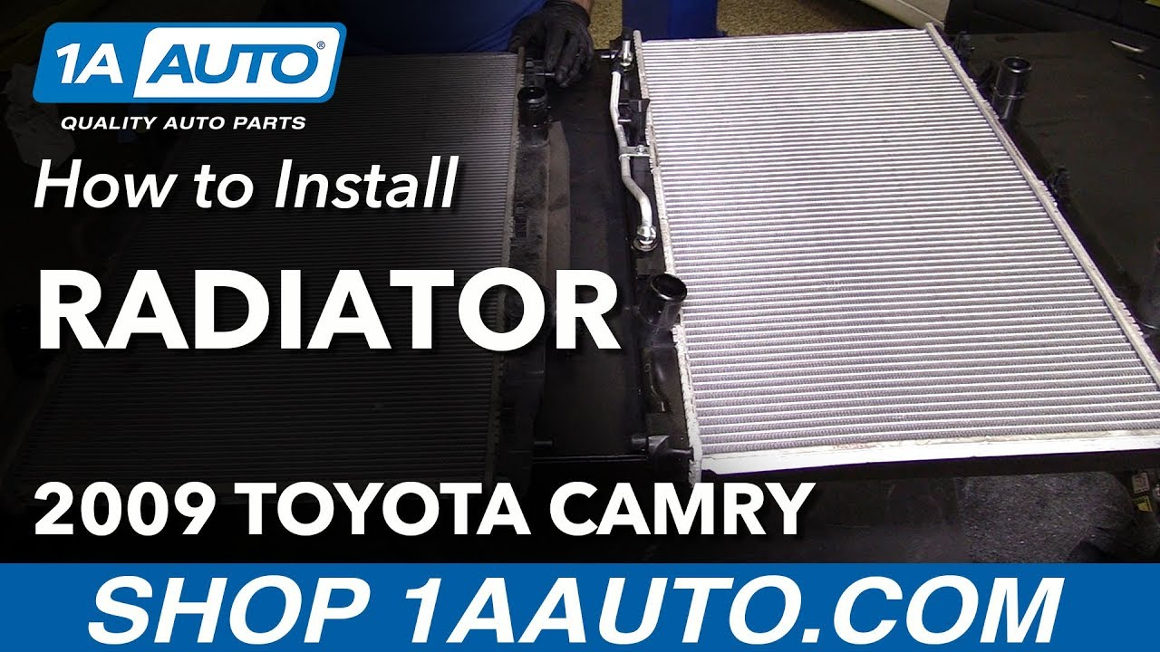 how to replace radiator 07 09 toyota camry l4 2 4l [ 1280 x 720 Pixel ]