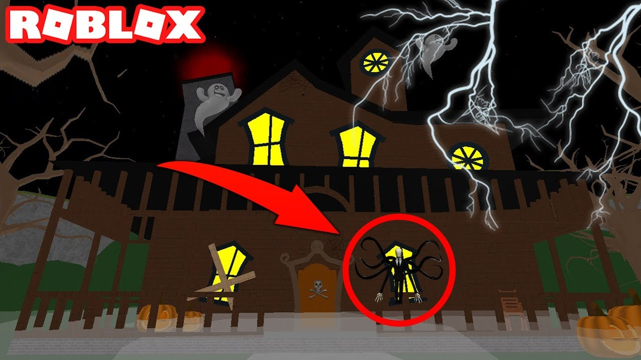 escape the haunted halloween house obby in roblox - youtube