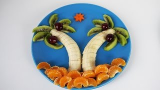 Quick and Easy DIY Recipes Fun Food for Kids Cooking for Children How To Make Fun Food Palm Tree