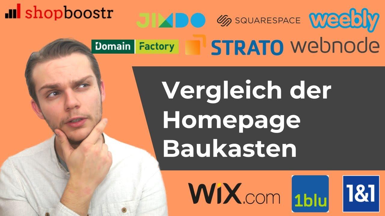Webseite Baukasten Vergleich Der Besten Homepage Baukasten 2018