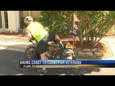 Veteran Makes Stop in Tallahassee on Coast-to-Coast Charity Bike Ride