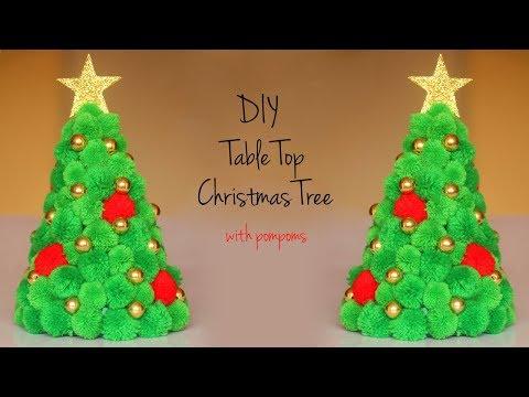 DIY Christmas Tree | Table Top Christmas Decoration | Pompom Wool Crafts