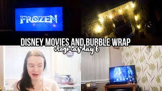 Vlogmas Day 6! | DISNEY MOVIES AND BUBBLE WRAP
