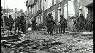 Town of Saint Lo during allied invasion of France in World War II. HD Stock Footage