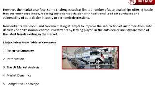 2018 US Auto Dealership Market Demand and Growth