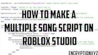 How to Make Multiple Music Script on ROBLOX