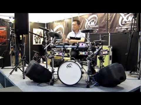 【XM eDrum】Funky Boy played by Color Lee in Taipei Music Fair-front view
