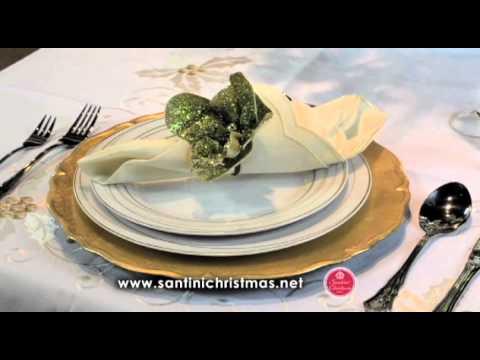 C mo decorar una mesa elegante navide a youtube for Como decorar una mesa