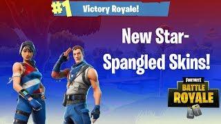*NEW* STAR-SPANGLED RANGER & STAR-SPANGLED TROOPER Skin Gameplay! - Fortnite Battle Royale