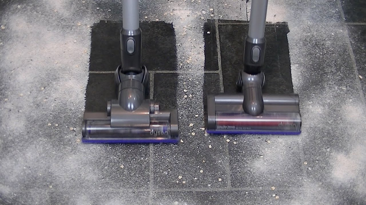 Dyson DC35 Vs Dyson V6 Cordless Vacuum Cleaner Pick Up Demonstrations