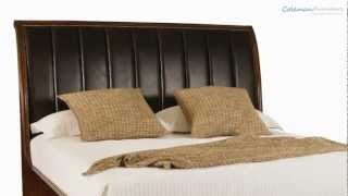 Bob Mackie Home Signature Leather Sleigh Bedroom Collection From American Drew