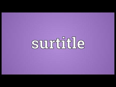 Header of surtitle