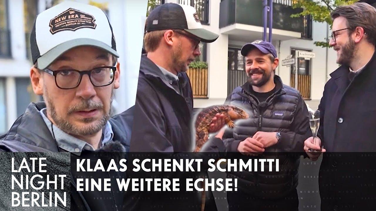 Klaas schenkt Schmitti eine weitere Echse!   Late Night Berlin   ProSieben