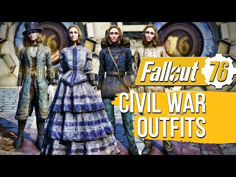 Fallout 76 - Civil War Era Outfits Location Guide & Showcase - YouTube