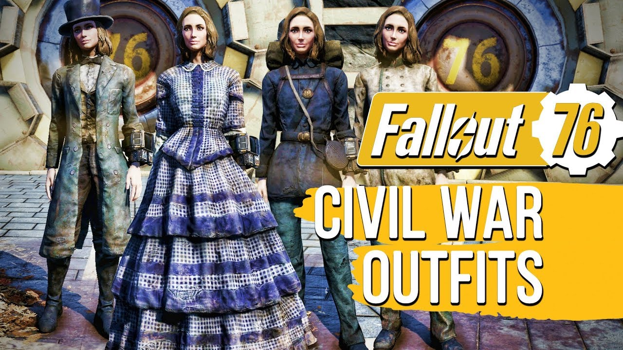 Fallout 76 - Civil War Era Outfits Location Guide & Showcase