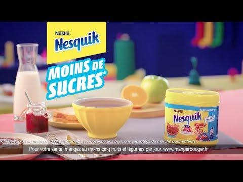 Vidéo Nesquik moins de sucres Film Web - Voix Off: Louise et Marilyn HERAUD