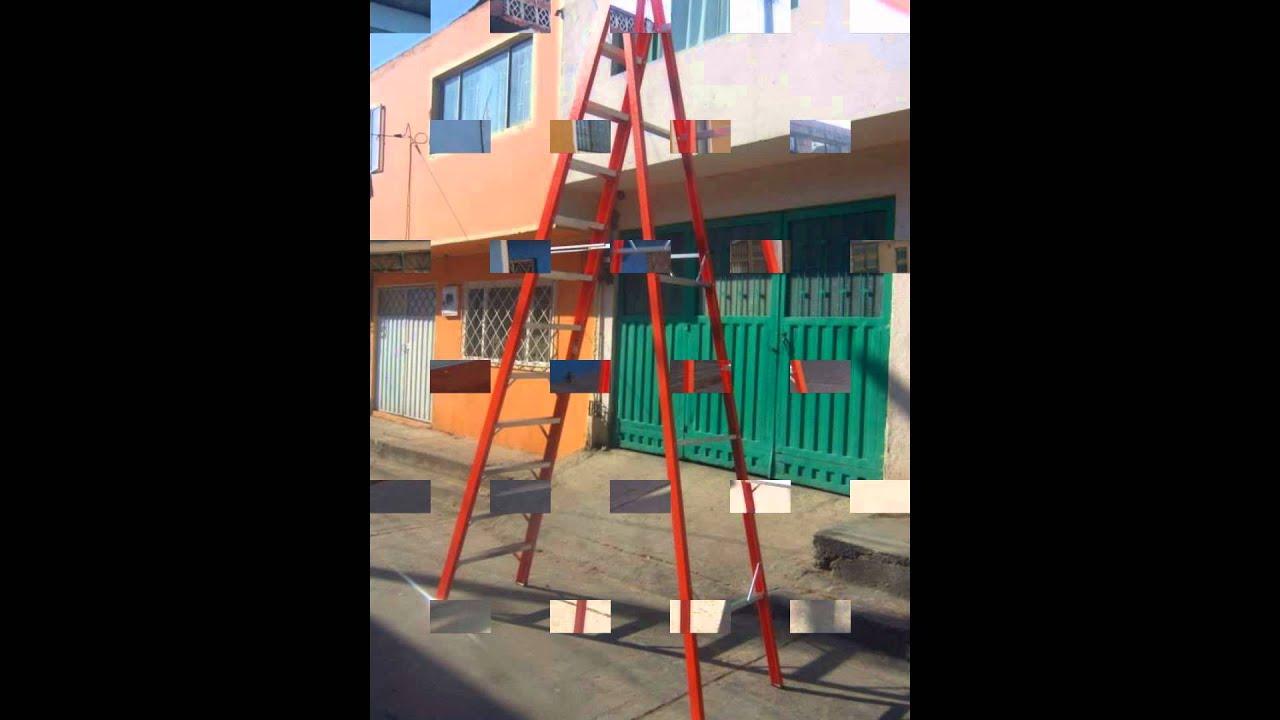 Escalera tipo tijera en fibra de vidrio youtube - Escalera fibra de vidrio ...