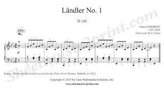 schubert : ländler no. 1, d 145 - youtube  youtube