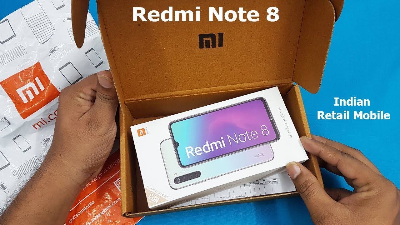 Redmi Note 8 Unboxing / First Look Retail Unit || Redmi Note 8 Specifications